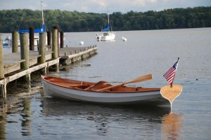 The finished chester Yawl will look like this little beauty. (photo by permission of Chesapeake Light Craft, LLC.)
