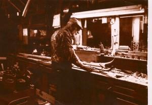 Dad in boatshop